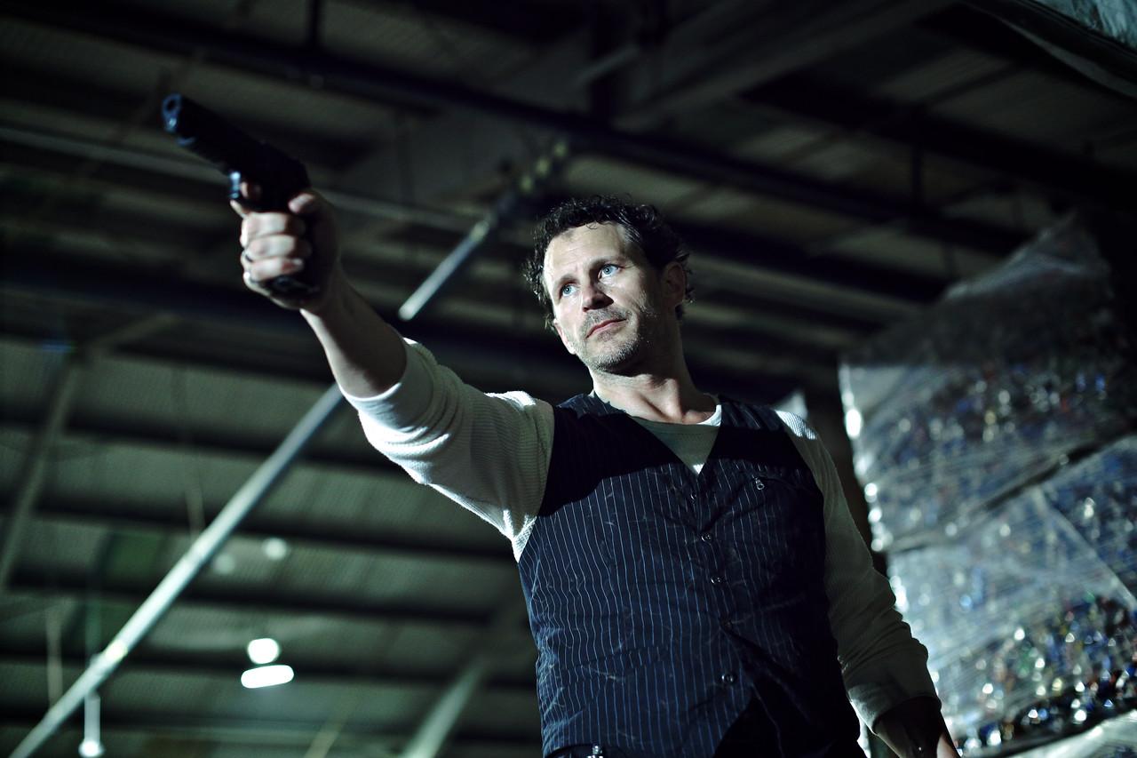 """Actor Lee Stringer on the set of the short film """"Karis""""."""