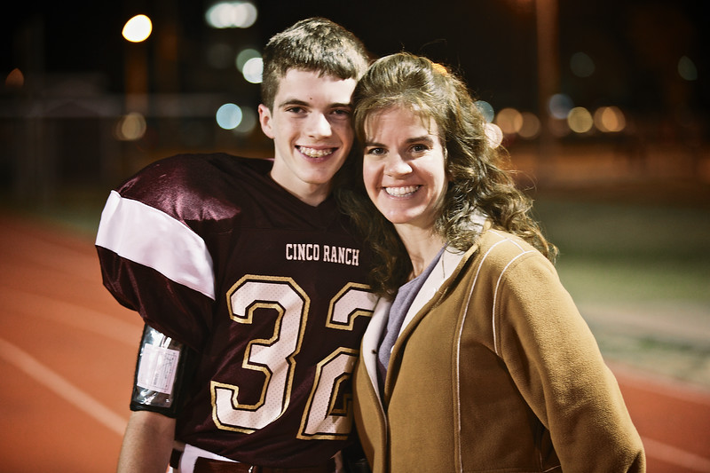Darcy and Dylan after the game.