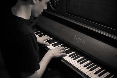 Alex on Piano