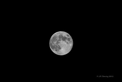 Blue Moon over Maple Ridge- Black and White