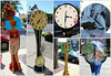 """June 7 2012 Got the time?<br /> <br /> As some of you may remember, our village sponsors a public art project each year and the objects are placed all over town. Previous years have included rain barrels, chairs and animals.  This year's theme is clocks.  I walked around downtown and grabbed shots of a few.  Made this collage for you use the new collage option in picmonkey.<br /> <br /> You can read more about the clocks at <a href=""""http://lgbaclocks.weebly.com/index.html"""">http://lgbaclocks.weebly.com/index.html</a>"""