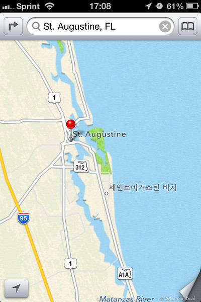 27Oct12<br /> <br /> i was fiddlin' with the map app in ios6, and stumbled upon this. is there a 'little korea' south of st augustine? what exactly is that?<br /> <br /> (iphone screen capture)