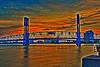 Main Street Bridge Jacksonville Florida. Canon HDR