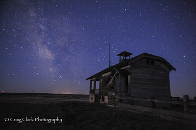 Schoolhouse and the Milky Way. Join us for this workshop September 24, 2013. http://www.kerbercustom.com/discoverthelight/workshop/MilkyWay2014.asp