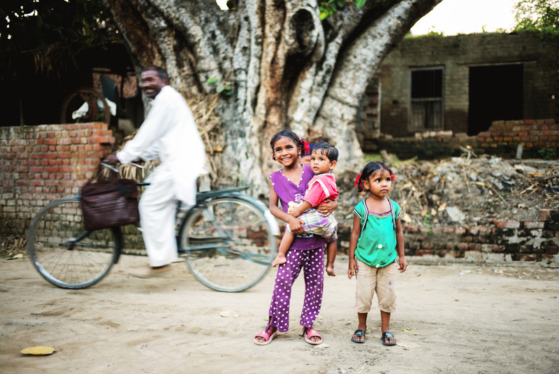 Village street scene. Punjab, India