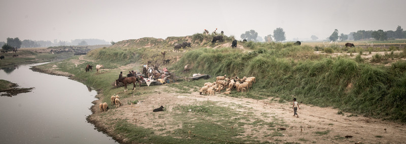 A remote village area.<br /> Punjab, India