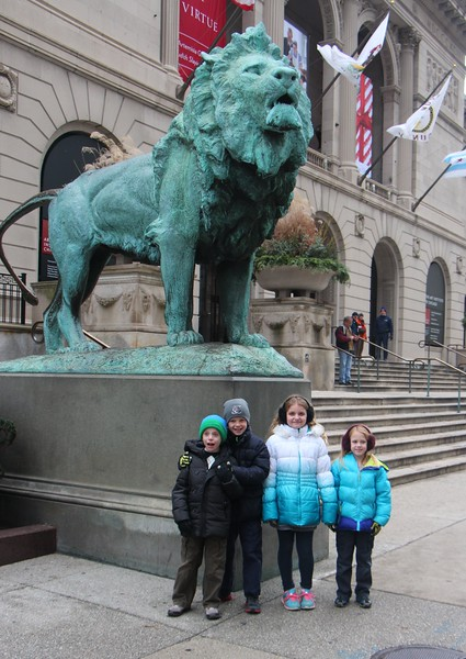 """November 27 2013 Chicago's Art Institute<br /> <br /> Jill and I took the four grandkids downtown yesterday.  We went to the Art Institute to see the Christmas decorations on the Thorne Miniature rooms <a href=""""http://www.artic.edu/exhibition/holiday-thorne-rooms-1"""">http://www.artic.edu/exhibition/holiday-thorne-rooms-1</a> and the 18th century Neapolitan Creche <a href=""""http://www.artic.edu/exhibition/neapolitan-cr-che-holiday-gift-city"""">http://www.artic.edu/exhibition/neapolitan-cr-che-holiday-gift-city</a><br /> <br /> We also saw Santa and ate lunch under the Great Tree at Macy's.  Last we saw the Macy's Christmas Windows and walked over to the ChristKindl market in Daley Plaza.<br /> <br /> What a great day."""