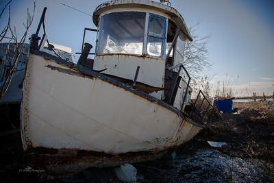 Grounded Oyster Boat, Shell Pile, New Jersey