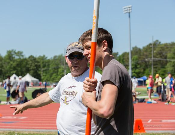 Alex with his coach, David Harris