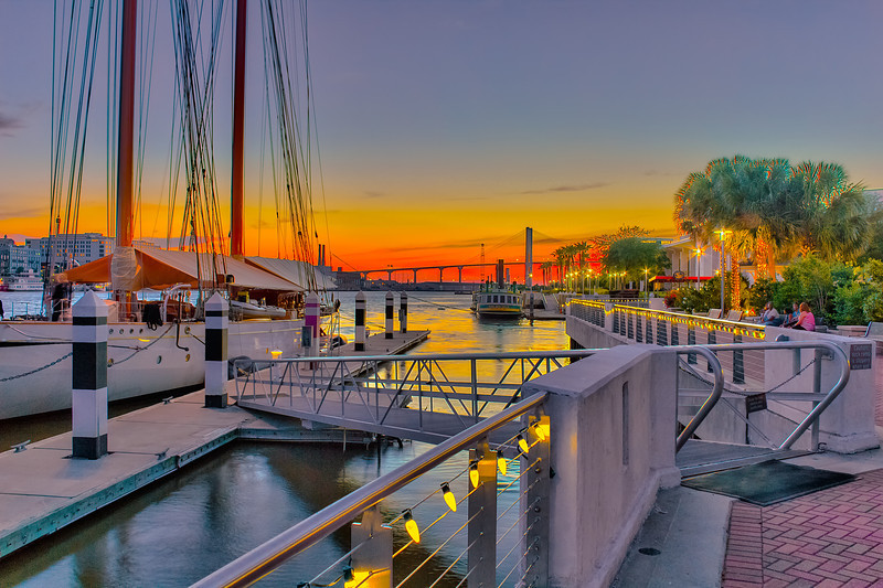 Savannah Dock Sunset