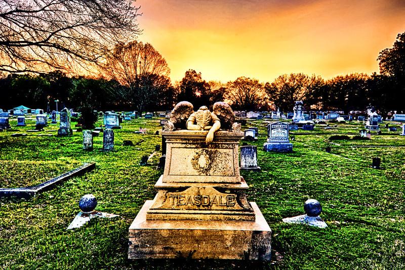 Golden sunset weeping Angel