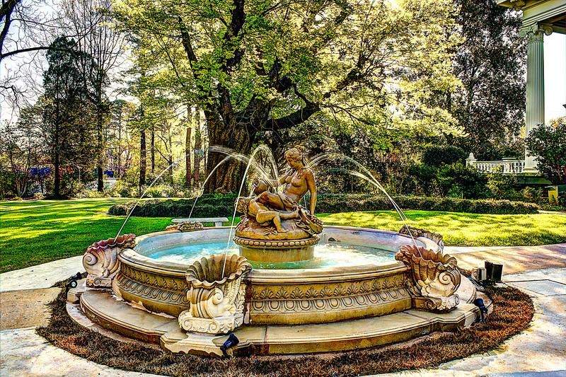 Highland House fountain 9 shots Lindamood Mansion Columbus Mississippi