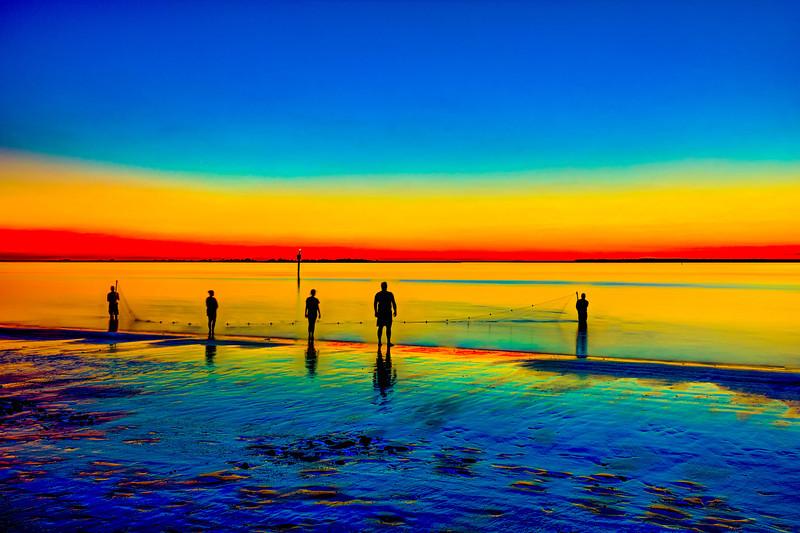 Shrimping at Sunset
