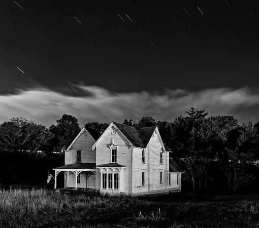 2014-10 Old House on Merimon - night
