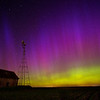 June photo used in my 2014 wall calendar. Taken in Minnehaha County, South Dakota.  Rare northern lights light up the midnight sky in south central SD.