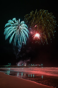 2014 Fireworks at Newport Beach Pier