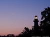 "27Apr14  moonrise lighthouse, st simons island, ga.  (waning, crescent 6%, 2 days before southern hemisphere solar eclipse)  <a href=""http://carpelumen.smugmug.com/Photography/2013/April13/28693682_r4GKQB#!i=2479839889&k=LxbgWBV"">one year ago.</a>  f/8, 1/40s, iso 640."