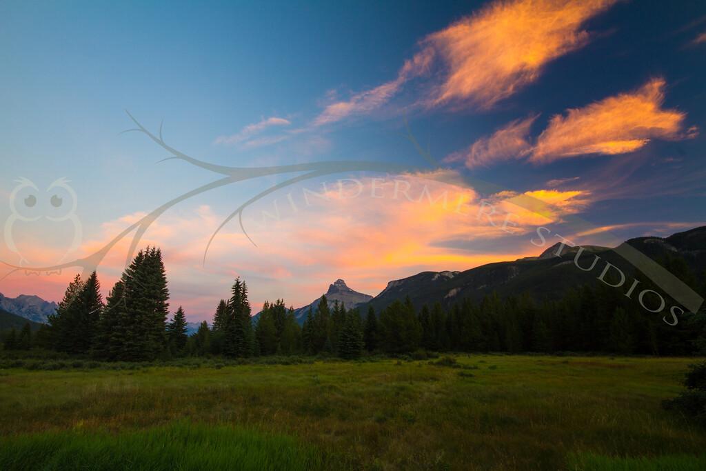 Sunset at Moose Meadows