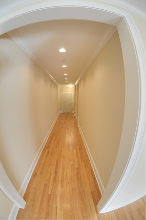 This hallway is 7 feet wide.