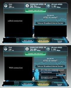 Connection speed comparison, 2/26/14