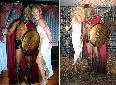 Leonidas the Spartan King and Queen Gorgo