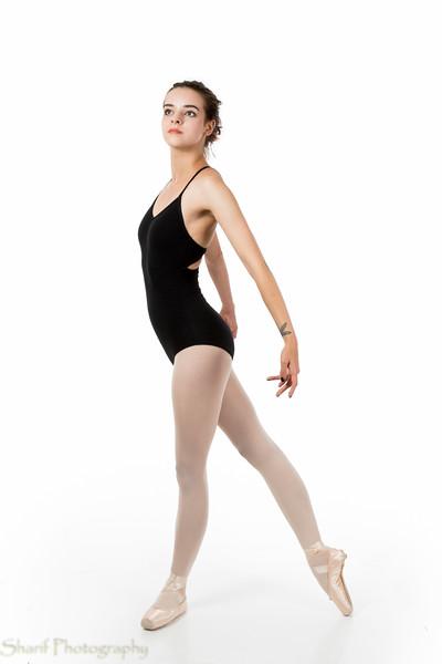 Young ballet dancer in elegant pose
