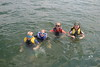 August 18 2015 Grandkids in Lake Delavan. <br /> <br /> We rented a pontoon boat.  Had to come back in early on account of rain.  Everbody is having a good time.