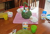 April 5 2015 Happy Easter<br /> <br /> Yesterday I posted the dining room table.  This is the table for the grandkids.