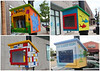 May 30 2015 Little Free Libraries<br /> <br /> Each summer our town, La Grange, sponsors a public art project.  This year the theme is Little Free Libraries.  Here are four of them. There will be 30.
