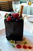 August 4 2015 Chocolate Bag<br /> <br /> Filled with chocolate mousse and fruit.  And yes we ate the bag too.