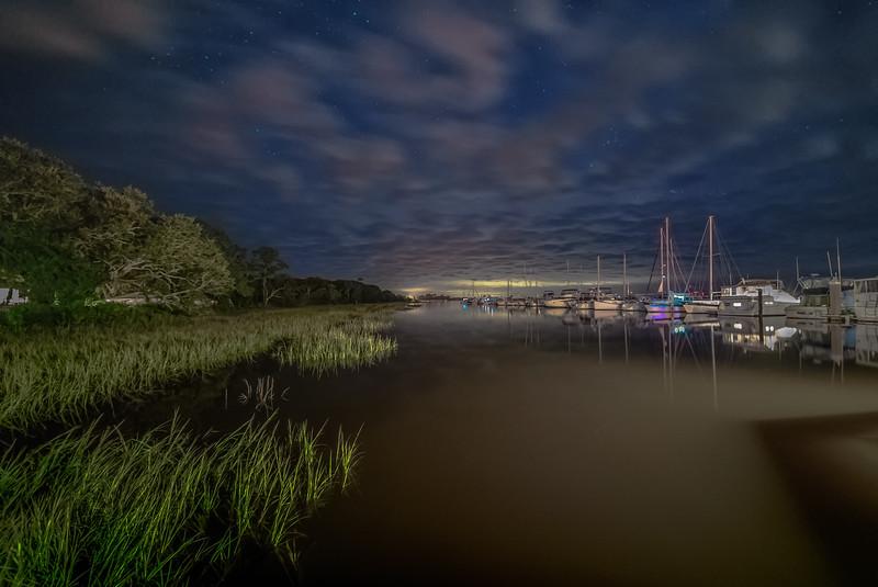 Cloudy Marina Night