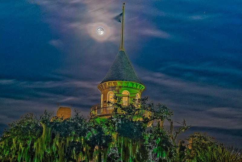 Harvest Moon over Honeymooner's Tower