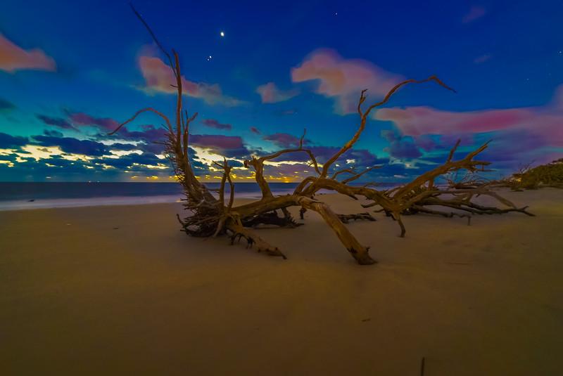 Venus Jupiter Mars Blue Hour Delight