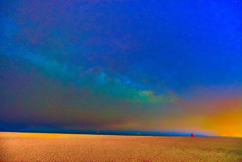 Milky Way over Mayport Beach TM