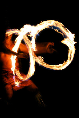 Fire dancer at a luau- Oahu, Hawaii
