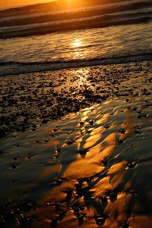 Black Sand Beach at Sunset- Torrey Pines State Beach, San Diego