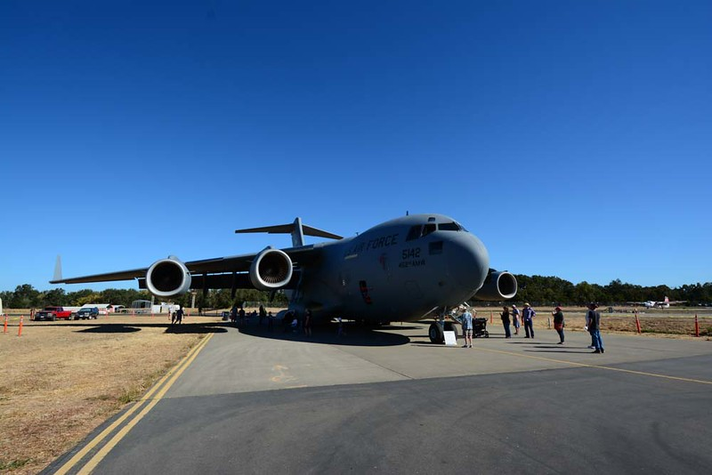 C-17 Globemaster III at Wings Over Wine Country Air Show.
