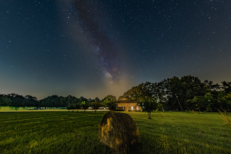 Milky Way Show and Hay Baling