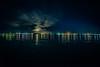 Across the River Smokey Moonrise