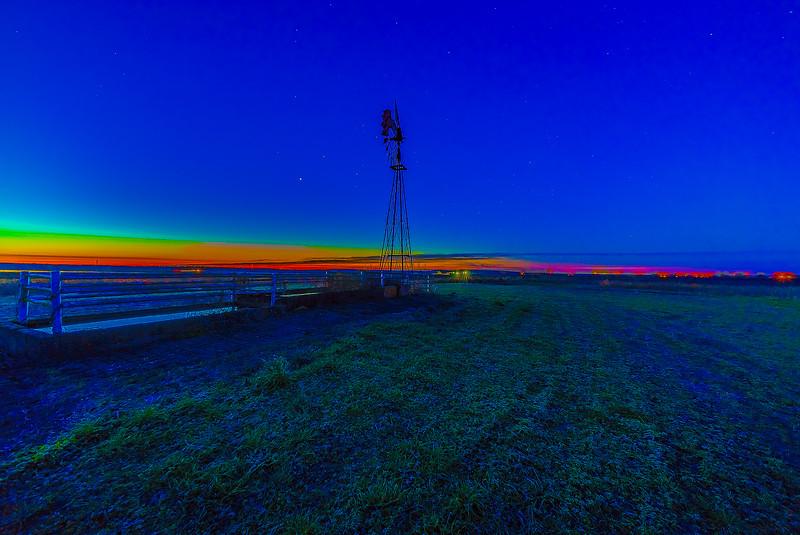Morning Twilight on the Farm