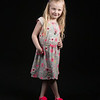 2017 APRIL SOPHIA FLOWERED DRESS-BLK BG-2