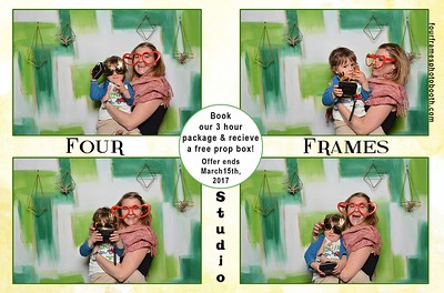 Photo fun with Four Frames at the 2017 Modern Bride Show.