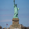 Lady Liberty from Staten Island Ferry, free ride full of tourists