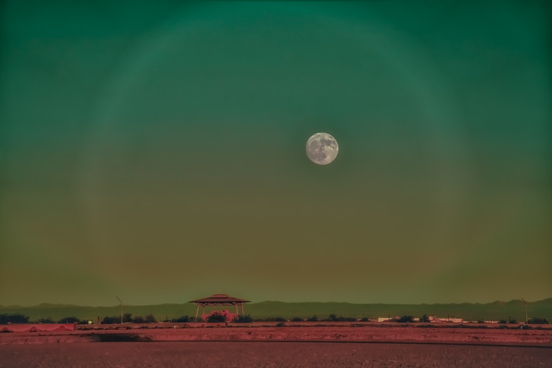 Moon Rise over Casa Grande Ruins National Monument