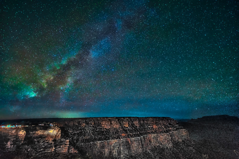 Milky Way Spiral over Grand Canyon
