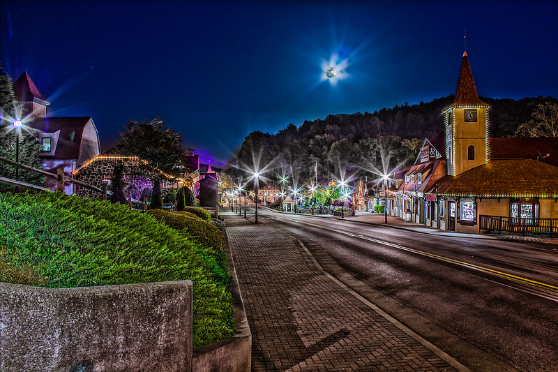 Small Town Moonrise
