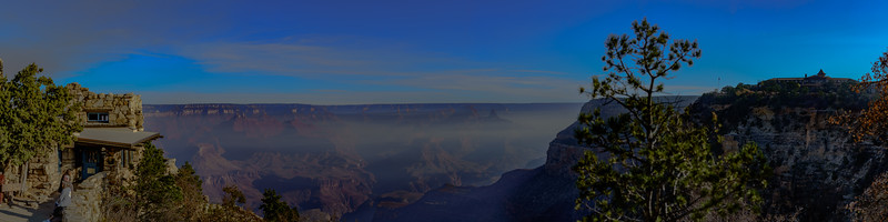 Foggy Grand Canyon Panorama