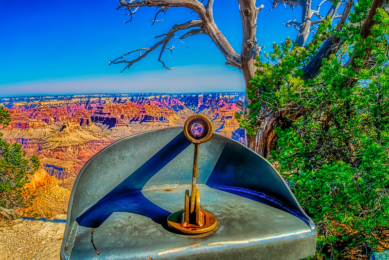 Grand Canyon Scenic Locator on South Rim