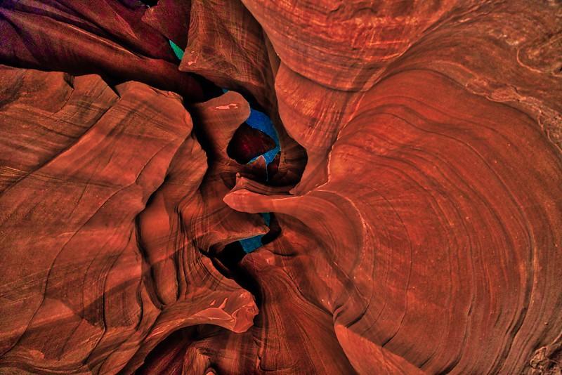 Stars Through the Slot of Antelope Canyon