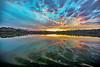 Dreamy Flat Boat Sunset Ride